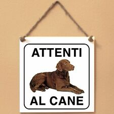 Chesapeake Bay Retriever 3 Attenti al cane Targa cane cartello