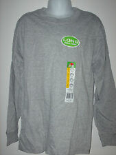 youth kids LONG SLEEVE t-shirt FOL Fruit of the Loom gray grey closeout