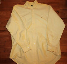 Ralph Lauren Polo Yellow  YARMOUTH  Shirt  SIZE-17/34