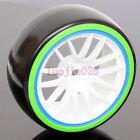 4PCS RC 1:10 On-Road Drift Car Hard Plastic Tyre Tires & Wheel Rim 9067-5004