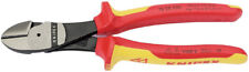 Knipex 74 08 200 VDE Insulated High Leverage Diagonal Side Cutters 200mm 31929