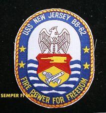 USS NEW JERSEY BB-62 COLLECTOR PATCH IOWA CLASS BATTLESHIP BIG J NAVY WWII NAM