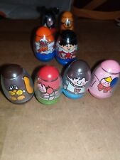 1973 1977 Vintage Weeble Wobble Lot Mickey Mouse Pluto Clown Ringmaster Family