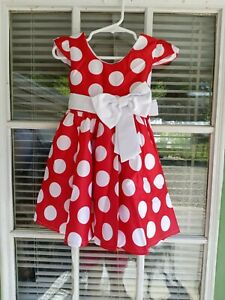 Toddler Girls Minnie Mouse Dress with Mouse Ears and Shoes