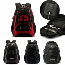 Men's Waterproof Backpack Laptop Bag School Travel Rucksack Swiss Gear Shoulder