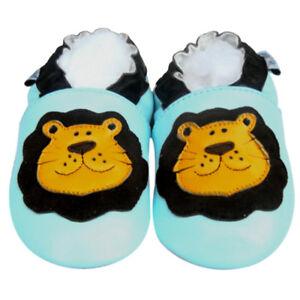Soft Sole Leather Baby Infant Toddler Mocassin Kid Children LionBlue Shoes 6-12M
