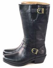 Bogs Womens Gretchen Tall Waterproof Harness Boot Black Leather Size 7.5  EU 38