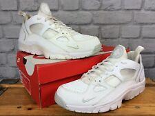Nike Air Para Hombre UK 9 UE 44 Huarache bajo Blanco Negro Zapatillas Rrp £ 92 LG