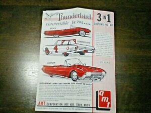 "AMT ""1961Thunderbird convertible "" Original Model Car Instruction sheet from1961"