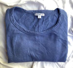 Standard James Perse Size 2 Medium Soft Raglan Sweatshirt Dress Light Blue