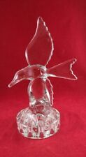 Vintage Cambridge Clear Glass Seagull Flower Frog