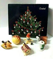 Goebel Christmas 6 Ornaments Pot Belly Stove Sun House Rocking Horse Clown Book