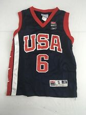Official Reebok Team USA Blue Basketball mesh Jersey Tracy Mcgrady #6 Small