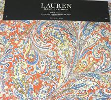 "Ralph Lauren Paisley Table Runner Jacqueline / Persimmon  15"" x 72"" 100% Cotton"