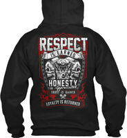 Motorcycle Riders For Men Biker - Respect Is Earned Gildan Hoodie Sweatshirt