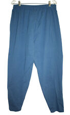 "Sunbelt Womens Plus Size Teal Blue Stretch Cotton Pants Tapered Leg 32"" Waist 16"