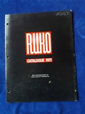 RUKO RU-KO SALES CATALOGUE 1971 KNIVES HUNTING BUCK GUNS RIFLES PISTOLS CANADA