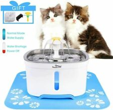 New listing 2.4L Automatic Led Pet Water Fountain Cat Dog Drinking Dispenser w/ Filter Us