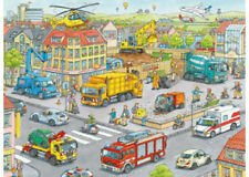 Ravensburger 100 XXL Piece Vehicles In The City Jigsaw Puzzle RB10558-8