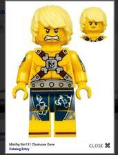 NEW authentic LEGO Movie 2 minifigure Chainsaw Dave Apocalypseburg tlm131 70840
