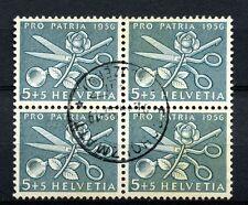 Switzerland 1956 SG#571, 5c Pro Patria Used Block Cat £7.60 #A58526