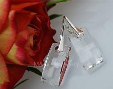 EARRINGS WITH SWAROVSKI ELEMENTS URBAN CRYSTAL CLEAR 20mm STERLING SILVER 925