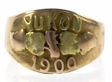Genuine Black Hills Gold Yukon 1900 Ring in 18 kt Yellow Gold