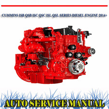 CUMMINS ISB QSB ISC QSC ISL QSL DIESEL ENGINE 2014+ WORKSHOP SERVICE MANUAL ~DVD