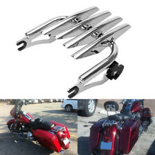 Chrome Detachable Stealth Luggage Rack Fit Harley Touring Road King 09-18