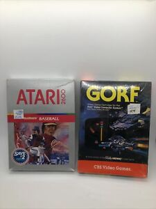 Sealed GORF & Baseball for Atari 2600 Complete in Box Authentic CIB nice! NOS