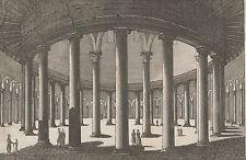 Gravure XVIII-XIXe, San Stefano Rotonda, Rome. Engraving, incisione, Roma 18th.