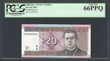 Lithuania 20 Litu 2007 P69 Uncirculated Graded 66