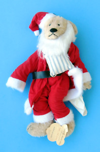 Bearly There Inc 15 inch Sacked Out Santa Plush Bear
