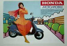 Prospectus Catalogue Brochure Moto Honda Gamme Scooters 1987