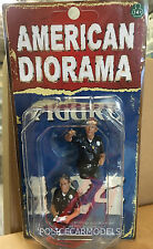 American Diorama 1/24 Seated Police Figure Set  - Two Sittting Figures 23826