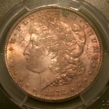 🔥 1878-S 👀  PCGS MS64 🔥 Morgan Dollar End Roll Toning ✨