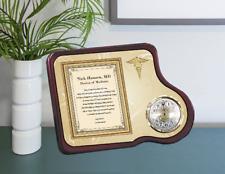 School of Medicine MD DO Clock Plaque Mahogany Med School Gif Clock Plaque Award