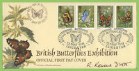 G.B. 1981 Butterflies on Bradbury First Day Cover, Leicester,Signed Rowena Stott