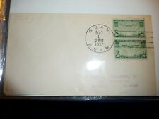 GUAM 1937 US envelop with 2x Trans-Pacific Airmail Stamp