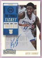 KHYRI THOMAS RC 2018-19 CONTENDERS THE FINALS TICKET AUTO #12/49 AUTOGRAPH