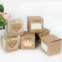 10Pcs Kraft Paper Gift Box Candy Boxes Wedding Party Favors Supplies Decor