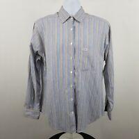 Faconnable Multi Color Striped Women's L/S Casual Button Shirt Sz Large L