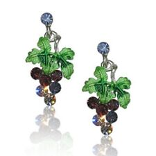 Grape cluster Austrian Crystal earrings jewelry wine country Napa Sonoma valleys