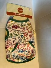 """Simply Dog Size Small Dog Outfit Green """"Woof Woof"""" & Other Saying New"""