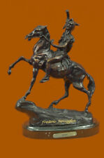 The Scalp Bronze Sculpture by Frederic Remington Finest Usa Lost-Wax Casting Art