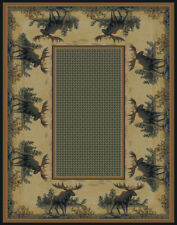 "United Weavers 132-40417 Natural Moose Wildlife 2x7 Area Rug - Approx 1'11""x7'4"""