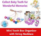 Tooth Box Organizer Kids Baby Save Milk Teeth Storage Box w/String, Assort 10/Pk