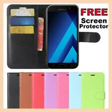 Leather Flip Case Wallet Gel Cover Stand For Samsung Galaxy A5 J2 J5 J7 Pro 2017