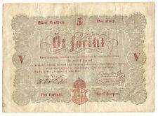 Hungary - 5 Forint - 1848 / Revolutionary War Issue_P#S112_Brown type