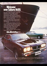 "1976 SUBARU 1600 SEDAN & HARDTOP A4 CANVAS PRINT POSTER 11.7""x8.3"""